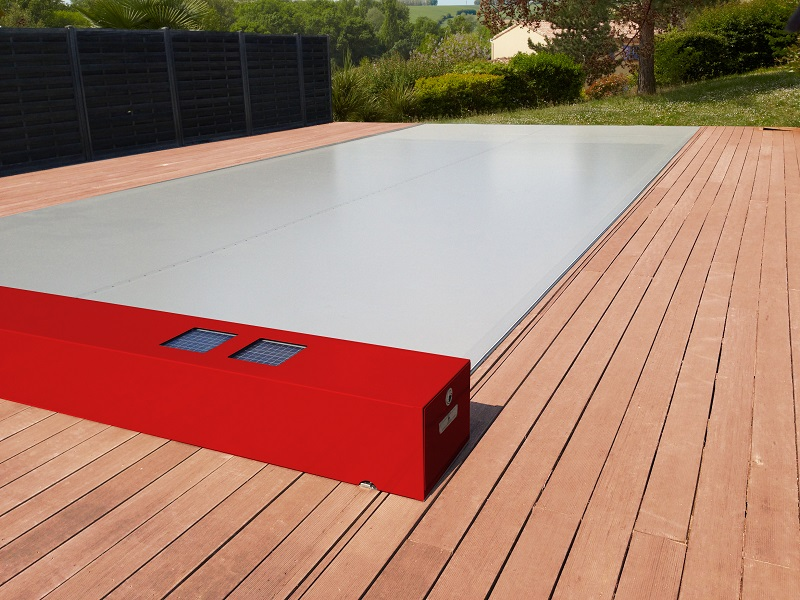 ZwembadPlus Coverseal rood m hout a