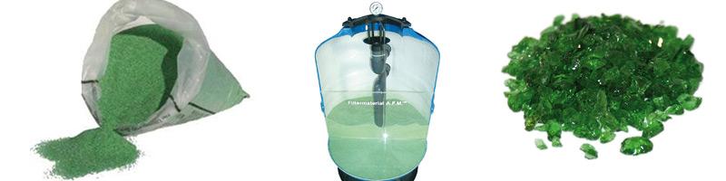 Glas filter zwembad